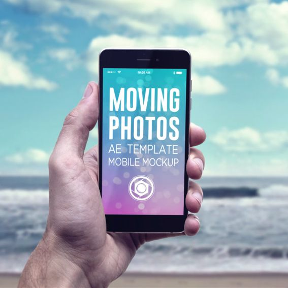 Moving Photos Mobile Mockup