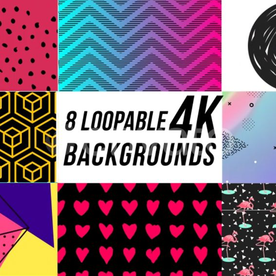 8 Trendy Loopable Backgrounds