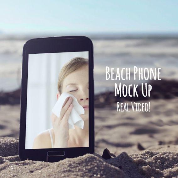 MockUp Beach Phone Real Video