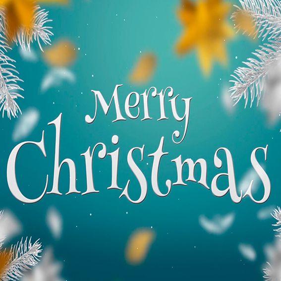White & Gold Christmas Slideshow